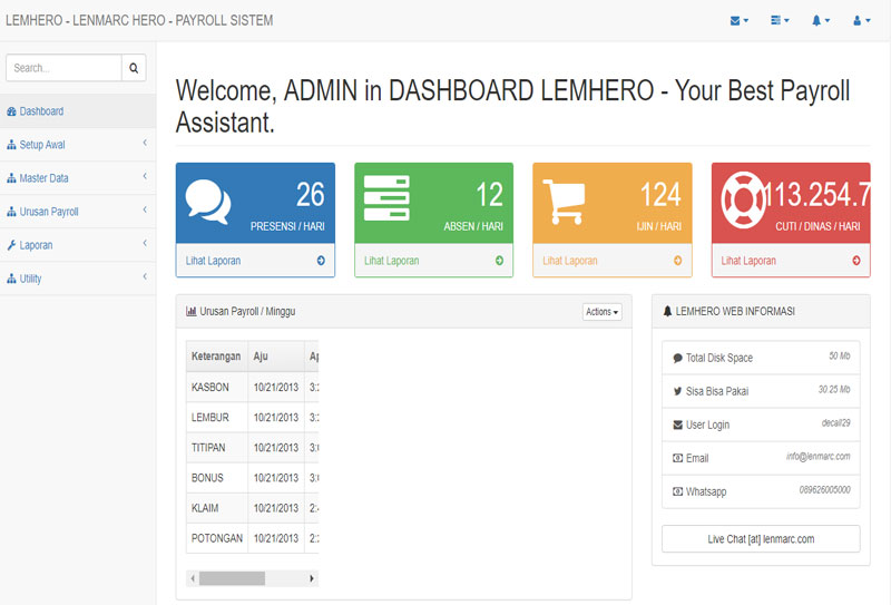 LEMPOS VA DASHBOARD